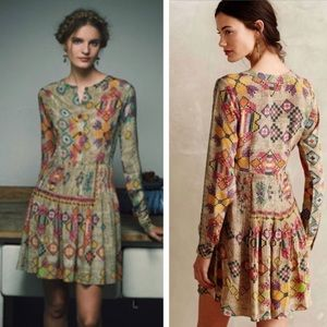 Anthropologie Hemant & Nandita Silk Dress 10